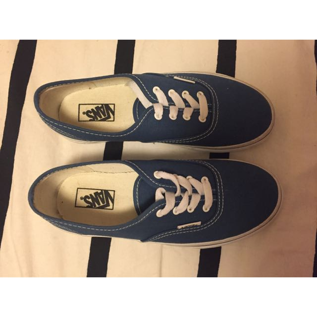 Authentic Navy Kids Vans