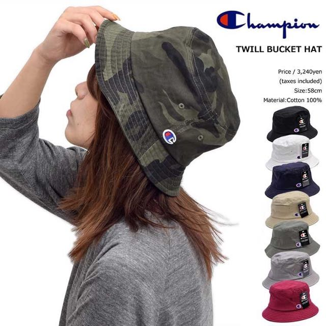 champion 漁夫帽 電繡 logo 日版 Champion 冠軍 正版