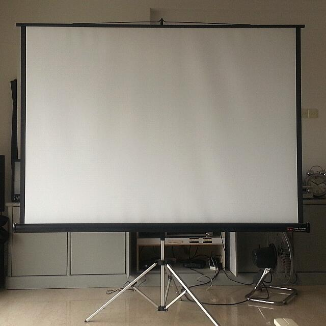 Foldable Projector Screen and Case - Matte White - 220 cm