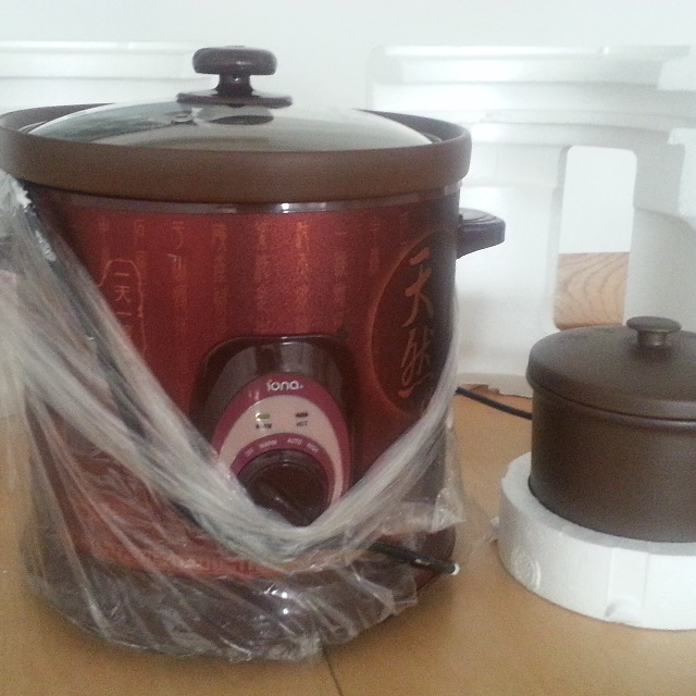 IONA Purple Clay auto Slow Cooker - 6.5 liters