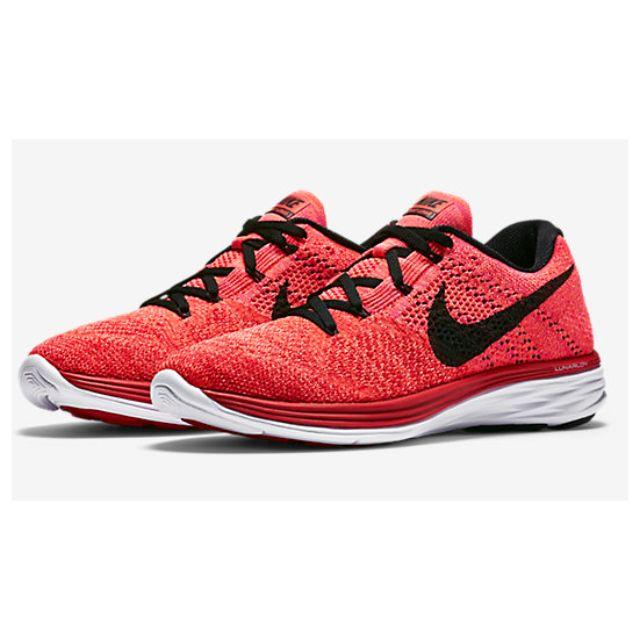 meet 8822d 5e299 Nike Flyknit Lunar 3 - University Red Bright Crimson Hot Lava Black ...