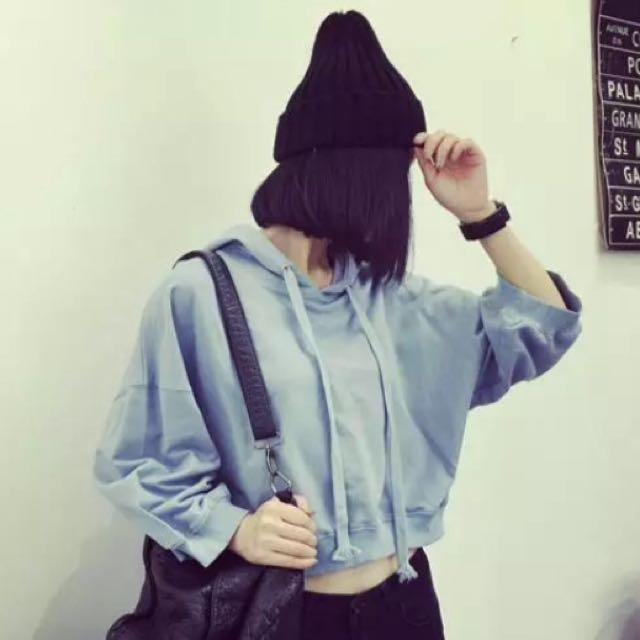 水藍秋冬帽T 全新✨.