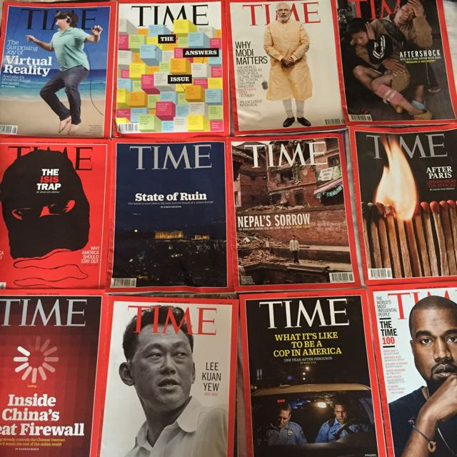Time Magazines Of 2015 (22 Issues)