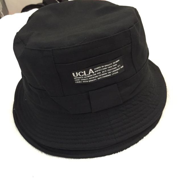 🔺UCLA素面黑基本款漁夫帽