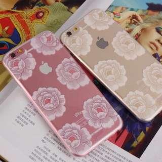 限量Iphone6s/6s Plus白牡丹透明殼