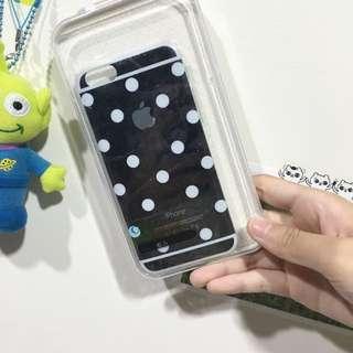 (現貨)iPhone6/6s 手機殼 時尚黑底白點