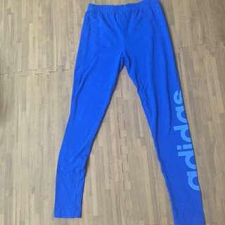 (待匯)Adidas 寶藍色內搭褲(二手)
