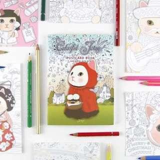 《預購》韓國 貓咪明信片 減壓圖本 繪本 36張