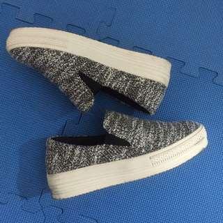 日本帶回 灰色格紋時尚包鞋