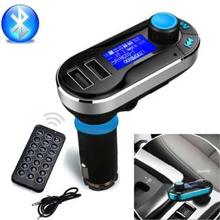 Wireless Car Audio Remote Control Car Kit MP3 Player FM Transmitter Modulator Dual USB & Car Charger With LCD Display