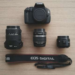 Canon 600d BUNDLE