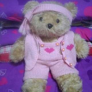 🚚 二手手工編織毛衣熊熊