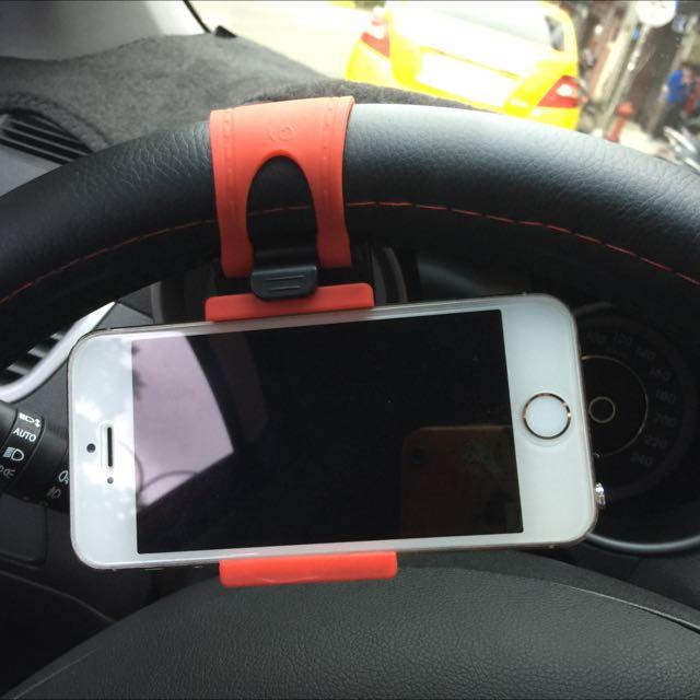 車用方向盤手機支架最大夾到6寸手機