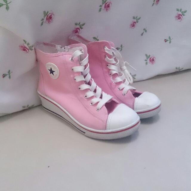短筒增高布鞋