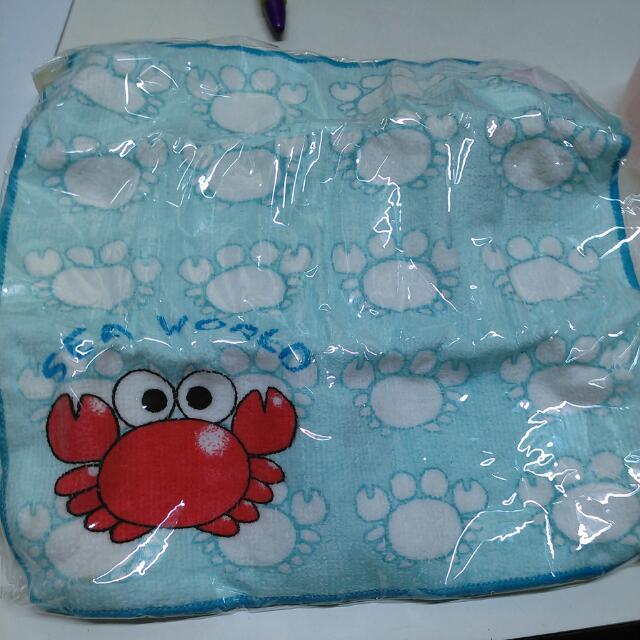 可愛的小螃蟹方巾