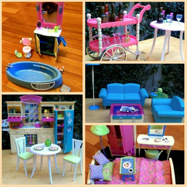 保留芭比娃娃所有家具