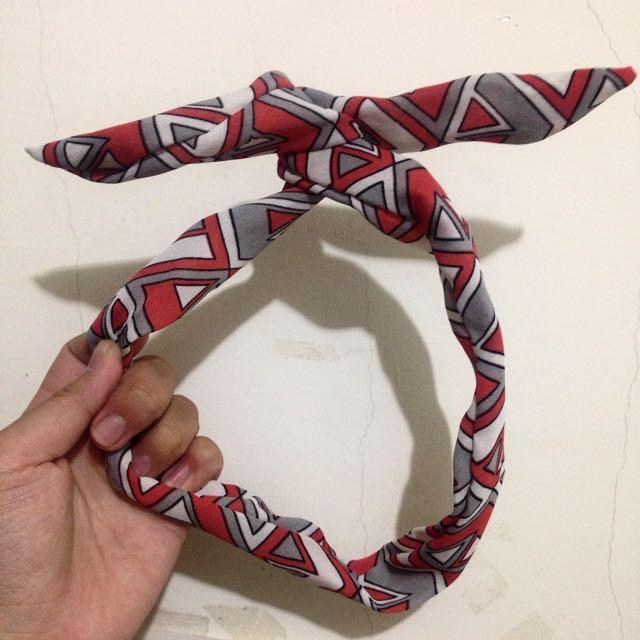 韓系幾何圖形髮帶