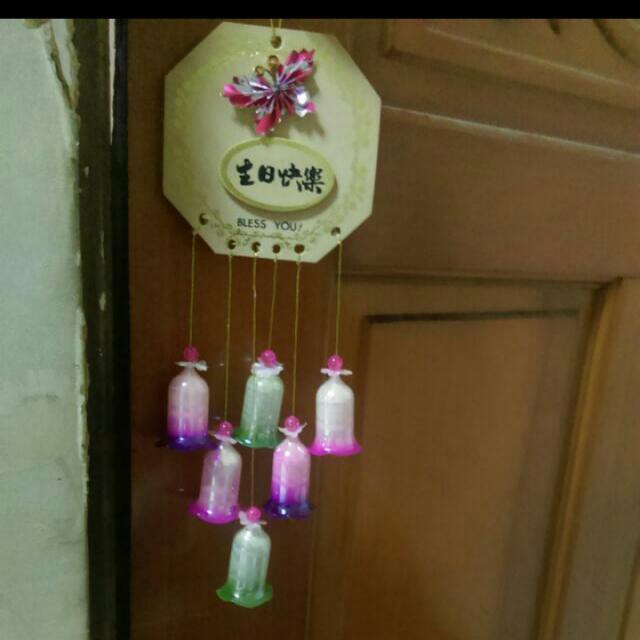 清倉喜歡就送👏生日快樂玻璃風鈴
