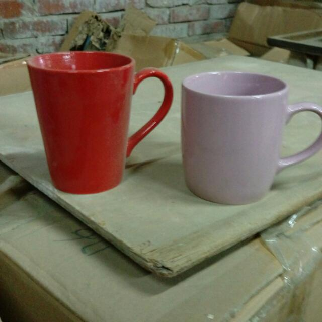 紅色/淡粉馬克杯