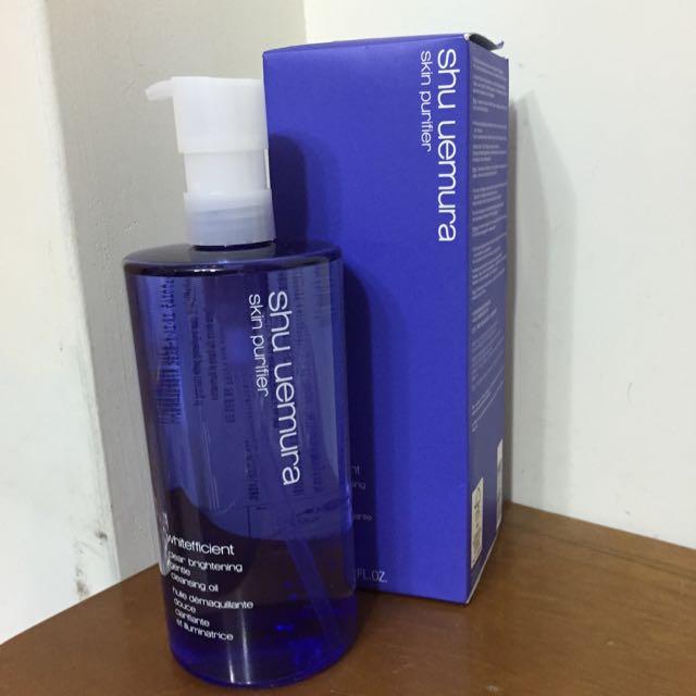 [全新/含運]植村秀 紫和梅煥白潔顏油450ml