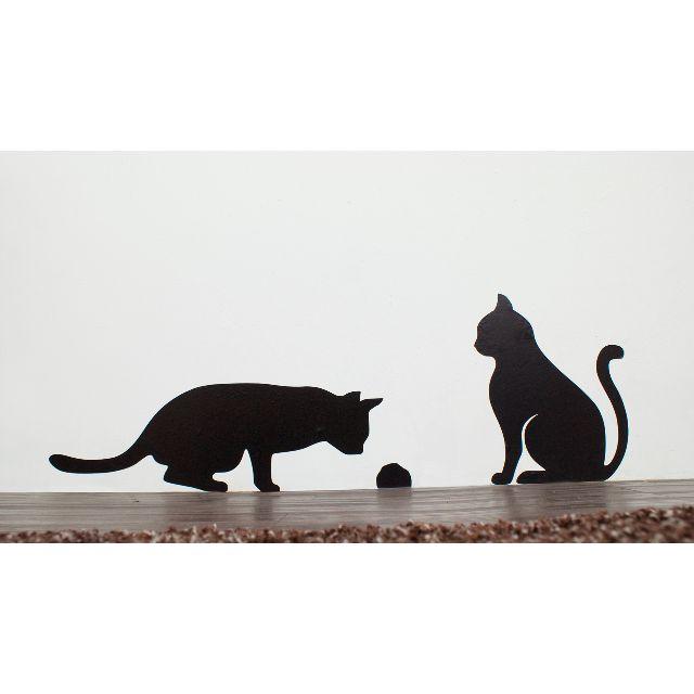 1:1大小 貓咪壁貼 - 監視老鼠洞(左)