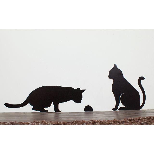 1:1大小 貓咪壁貼 - 監視老鼠洞(右)