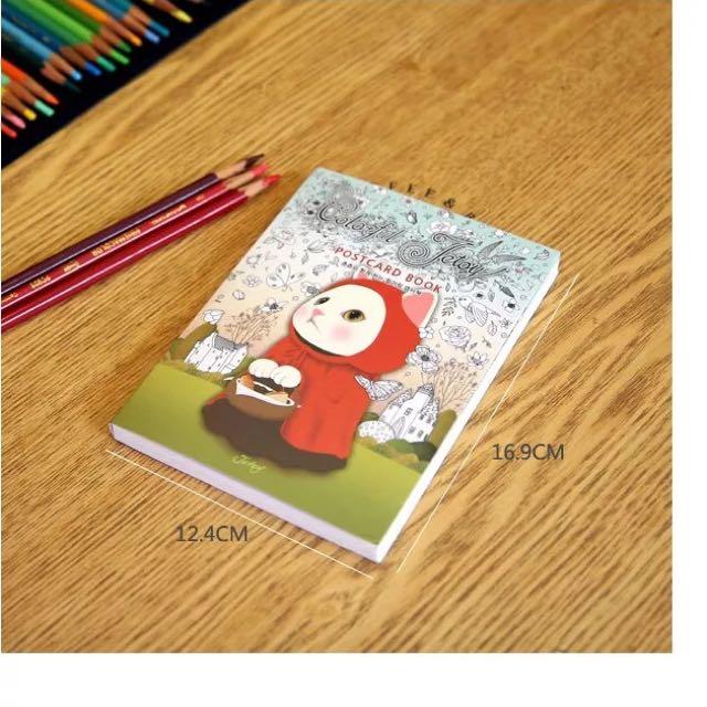 《現貨》韓國 jetoy貓咪明信片 減壓圖本 繪本 36張
