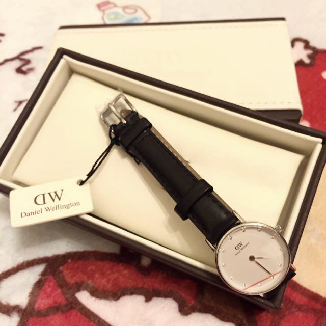 美國帶回 全新 Daniel Wellington 0921DW 26mm 真皮錶帶