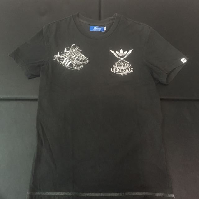 Adidas Originals 雙刀刺繡雙層布料短Tee S