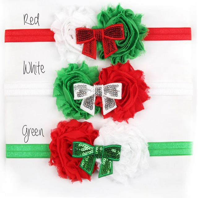 Christmas Headband For Baby Girl.Christmas Headband For Baby Girl