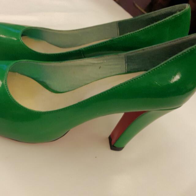 E.M Shoes 綠色高跟鞋