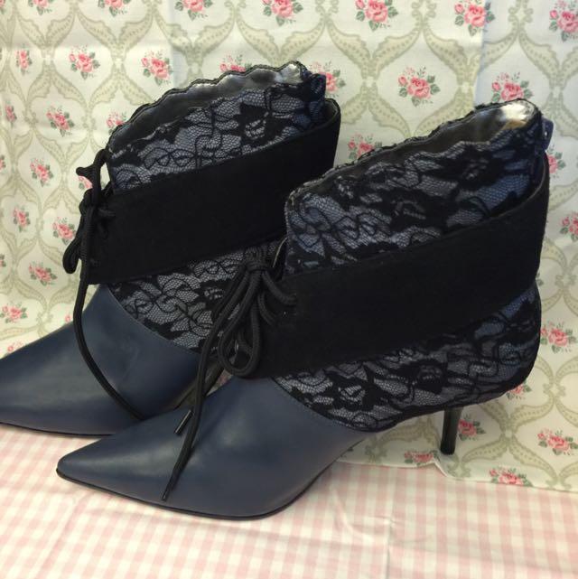Enzo Angiolini蕾絲高跟鞋(nine West Zara 可參考)