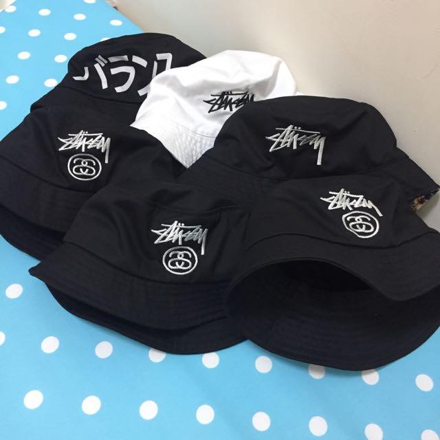 *降價出清*現貨韓版stussy潮流漁夫帽!百搭黑色刺繡logo!