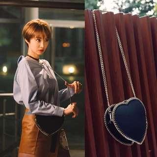 新款預購⚓️她很美麗高俊熙閔夏莉同款愛心形鍊條單肩斜挎小包-共3款