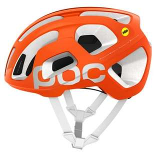 Brand New Poc Octal AVIP MIPS Road Cycling Helmet Zink Orange/Hydrogen White Large 58 x 62