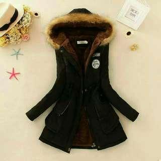 超熱銷冬季韓版連帽長版加絨外套