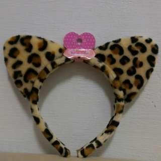 全新豹紋裝飾髮圈/髮箍