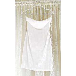 Christopher Chronis White Strapless Dress