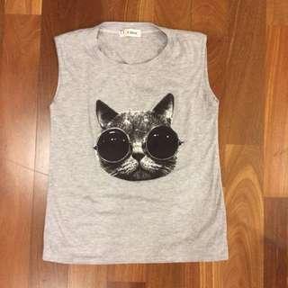 F Block Kitty With Shades