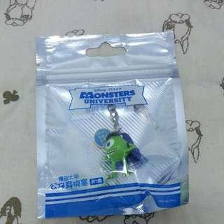 迪士尼怪獸電力公司大眼仔耳機防塵塞吊飾