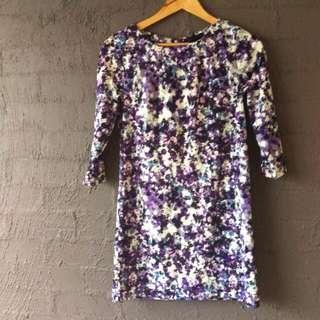 Abstract Purple H&M Dress