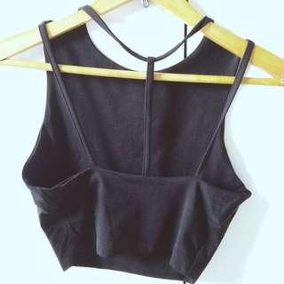 Black Kookai Crop Top