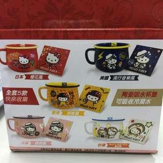 7-11 Hello Kitty 仿琺瑯造型大杯碗+杯墊