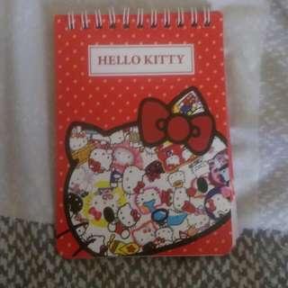 Hello Kitty線圈筆記本,超可愛