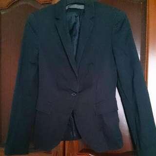 Zara黑色西裝外套 可正式可休閒