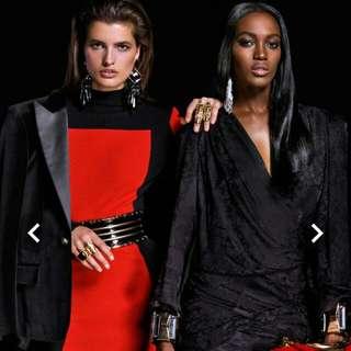 H&M x Balmain Red BLOCK Dress