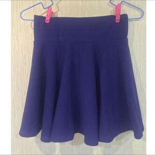 寶藍色短裙(內縫安全褲)
