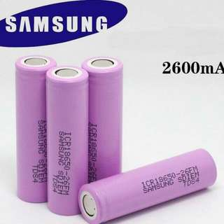 Samsung 18650 Battery 2600mah