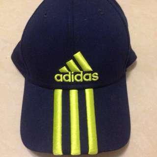 Adidas 深藍帽 全新