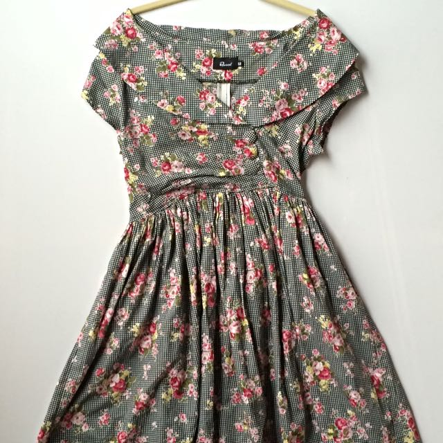 50s Style Floral Print Dress